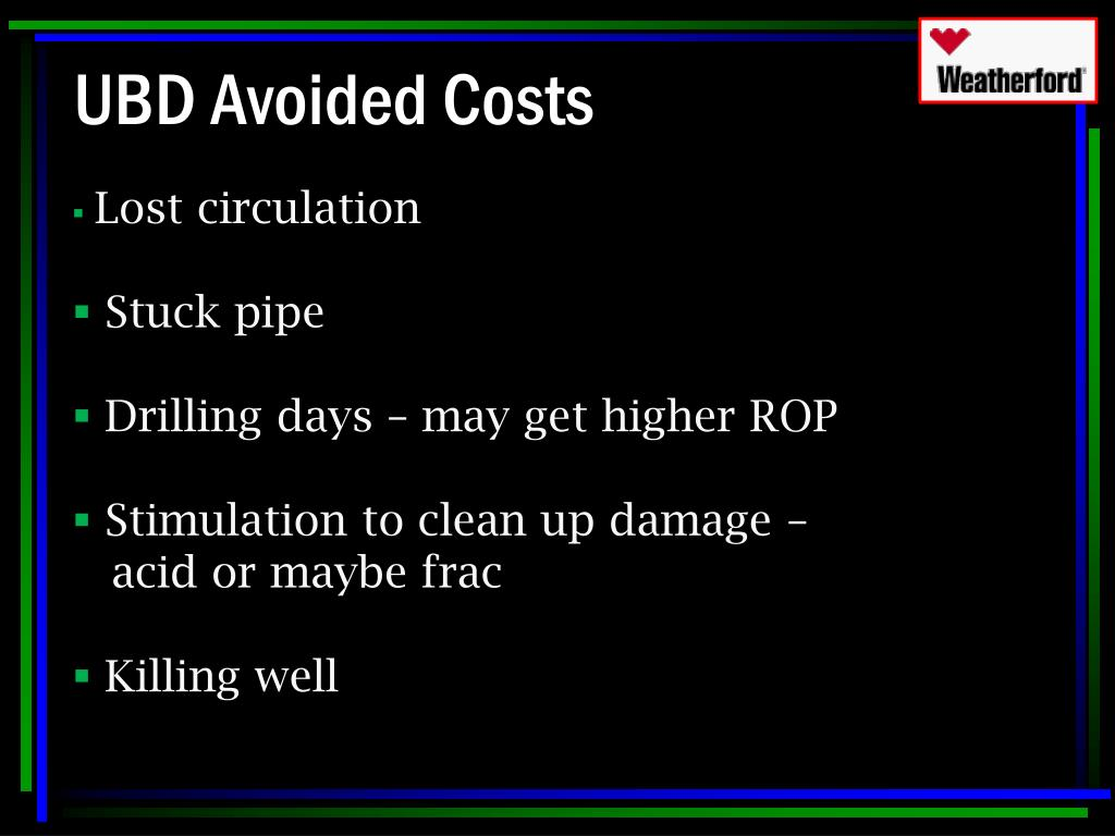 UBD Avoided Costs