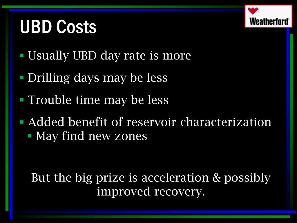 UBD Costs