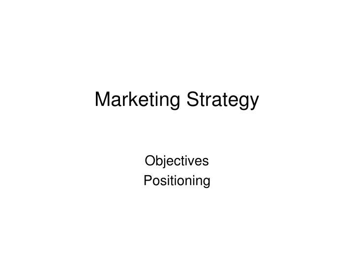 marketing strategy n.