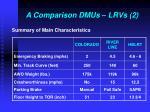 a comparison dmus lrvs 2