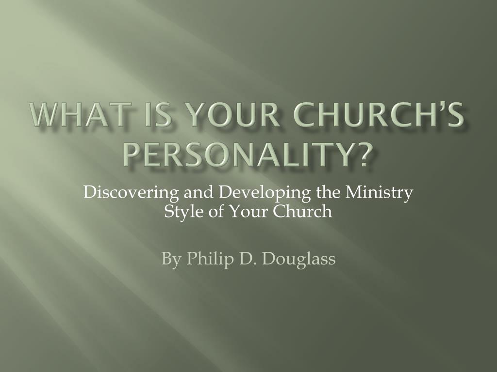 what is your church s personality l.