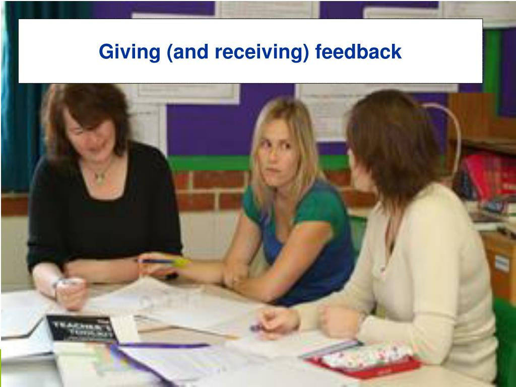 Giving (and receiving) feedback