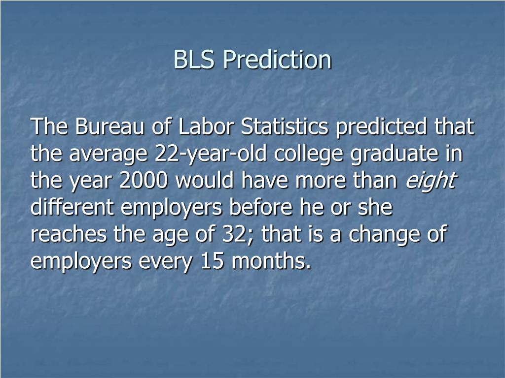 BLS Prediction