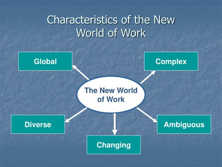 Characteristics of the new world of work