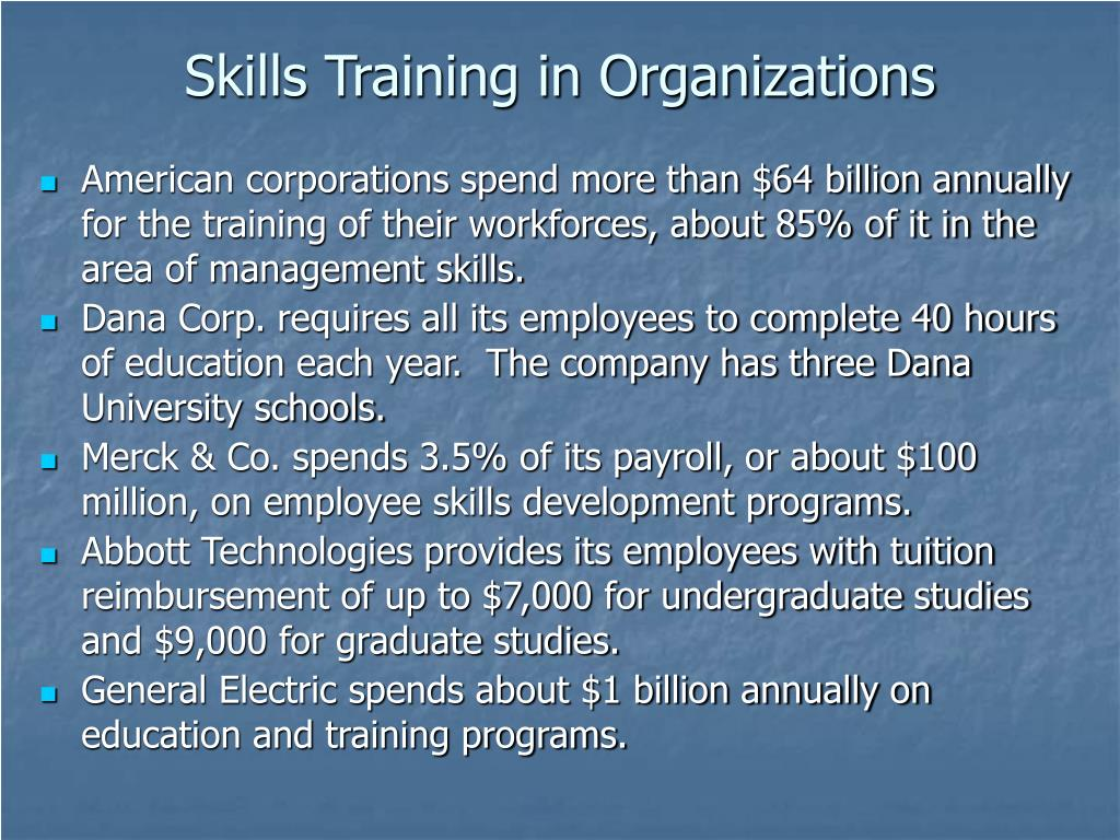 Skills Training in Organizations
