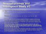 neurophysiology and intelligence study 1