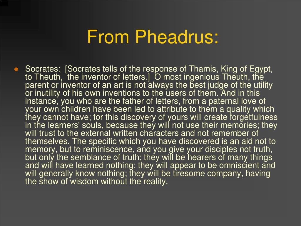 From Pheadrus: