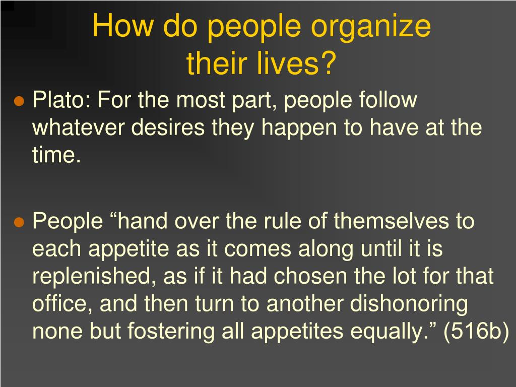 How do people organize