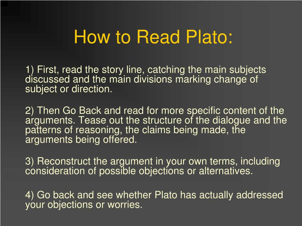 How to Read Plato: