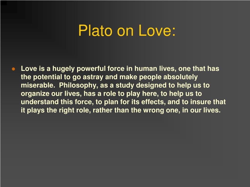 Plato on Love: