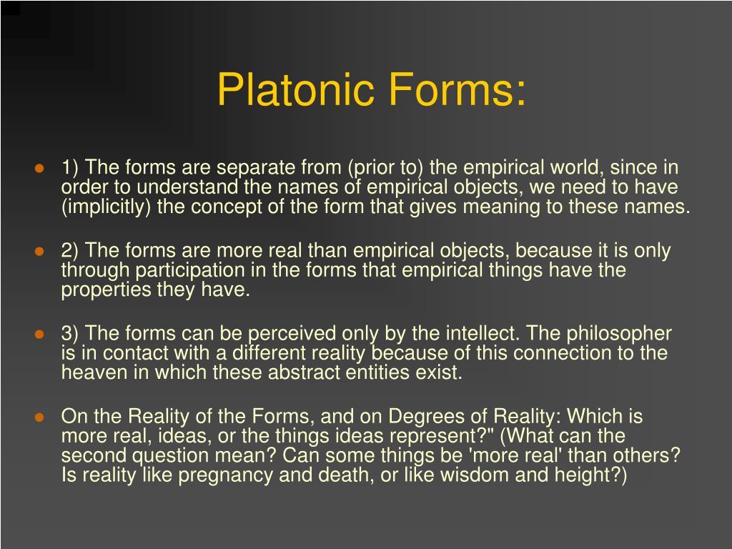 Platonic Forms: