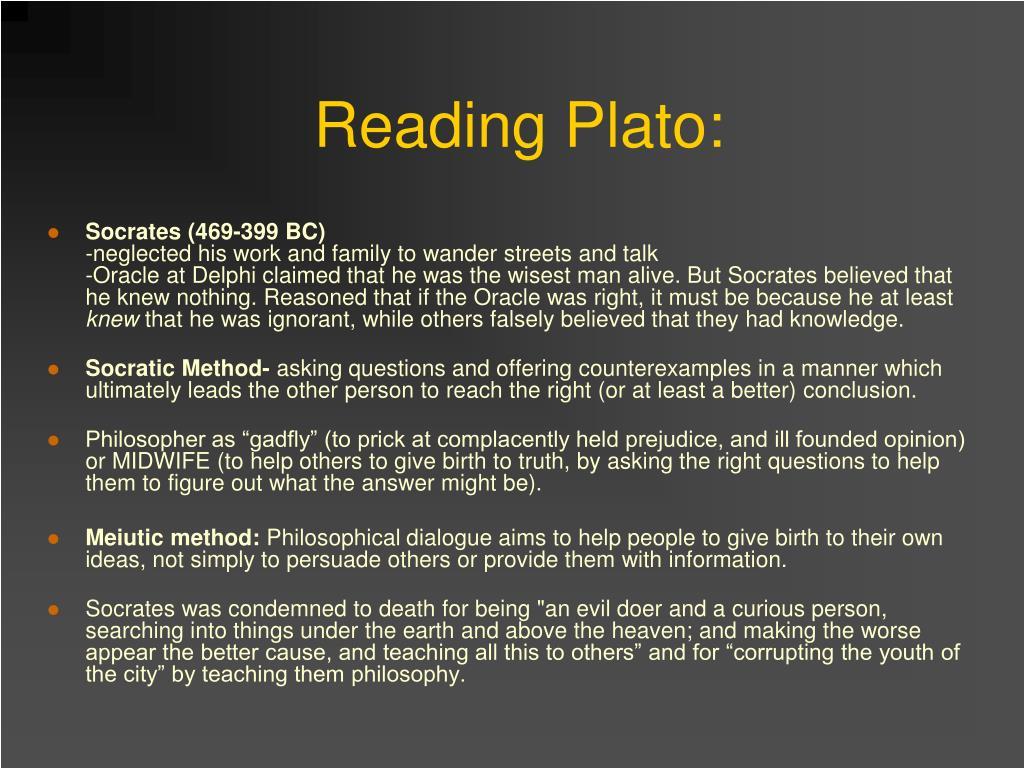 Reading Plato: