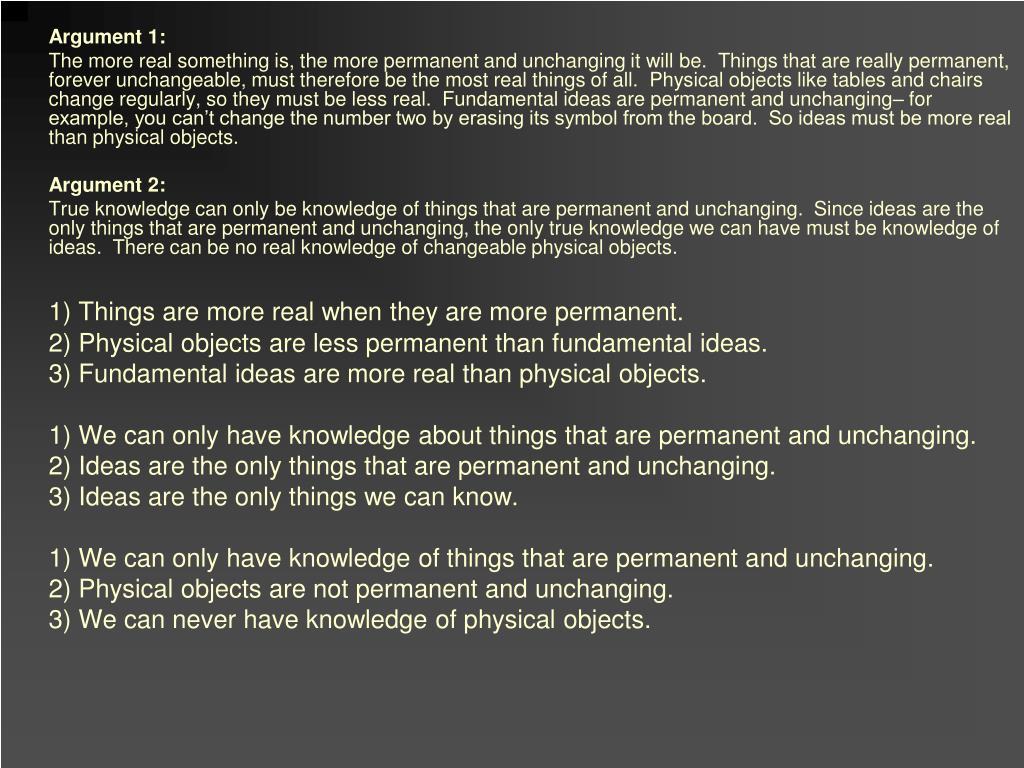 Argument 1: