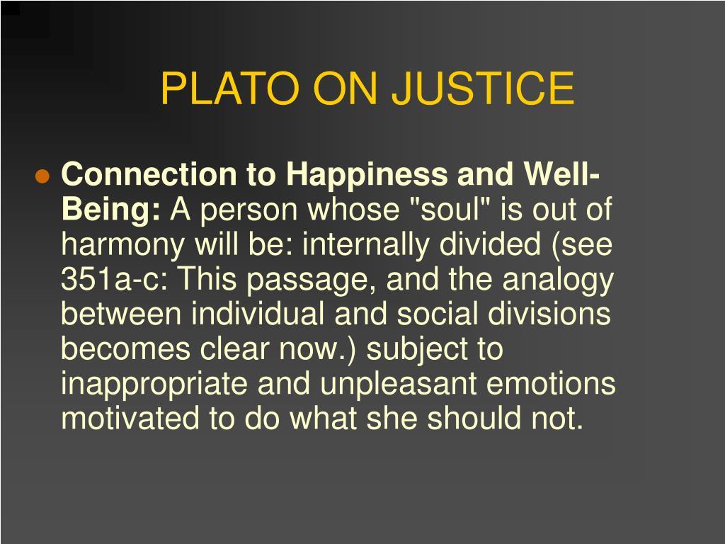 PLATO ON JUSTICE