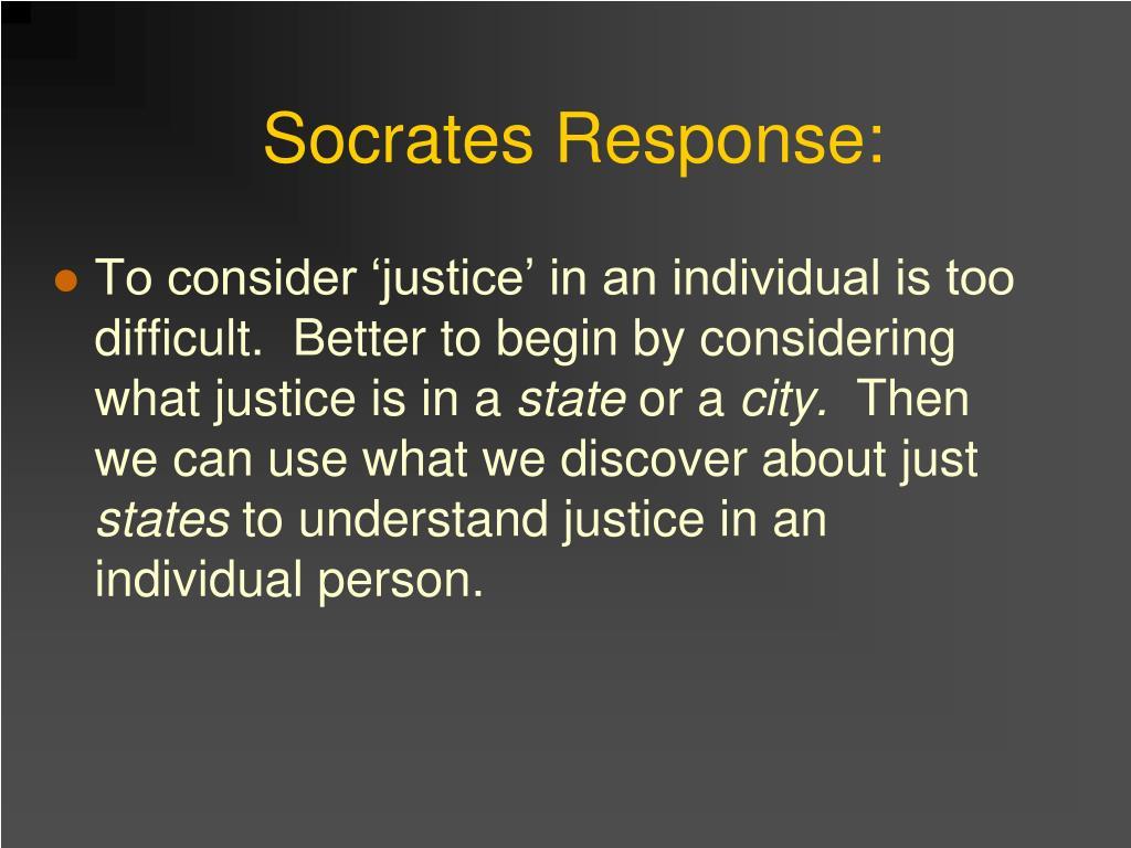 Socrates Response: