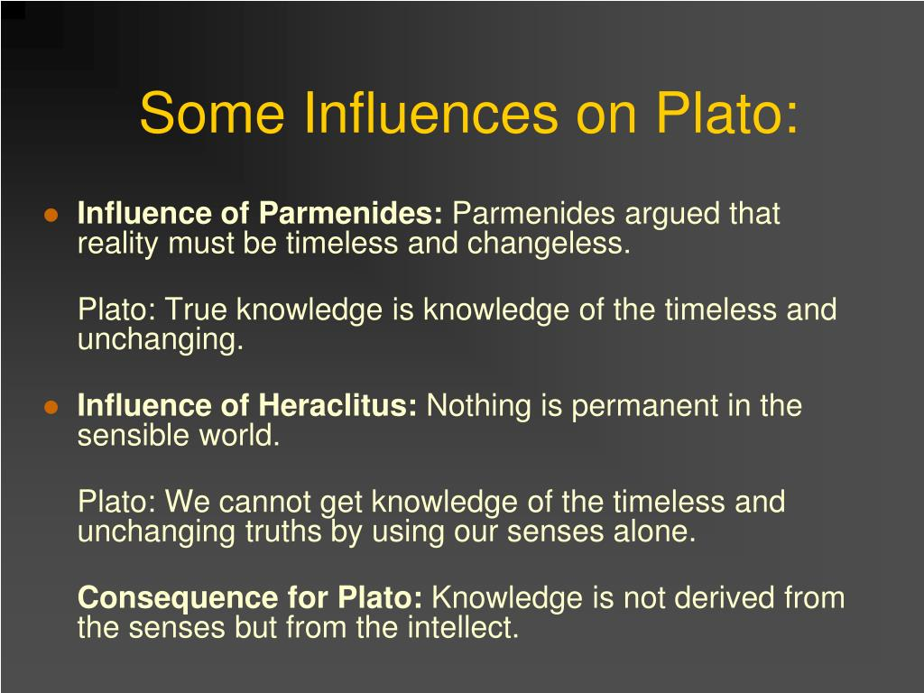 Some Influences on Plato: