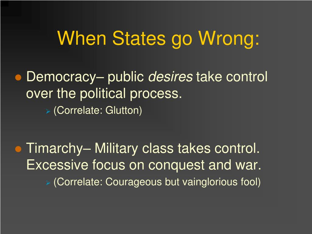When States go Wrong: