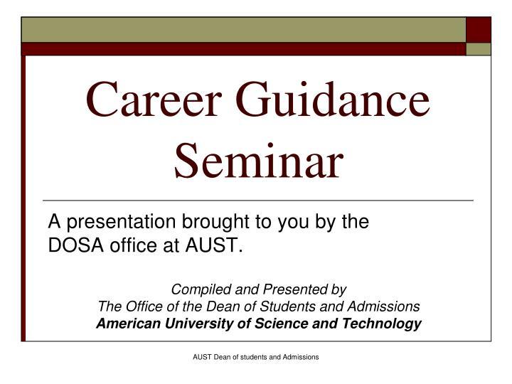 career guidance seminar n.