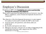 employee s discussion