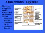 characteristics ligaments74