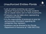 unauthorized entities florida92
