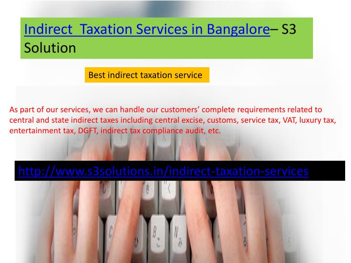 Indirect  Taxation Services in Bangalore