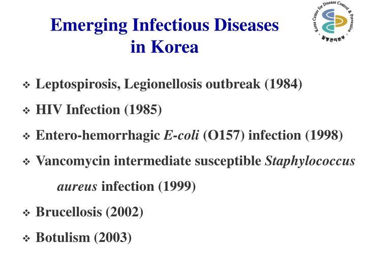 Emerging infectious diseases in korea
