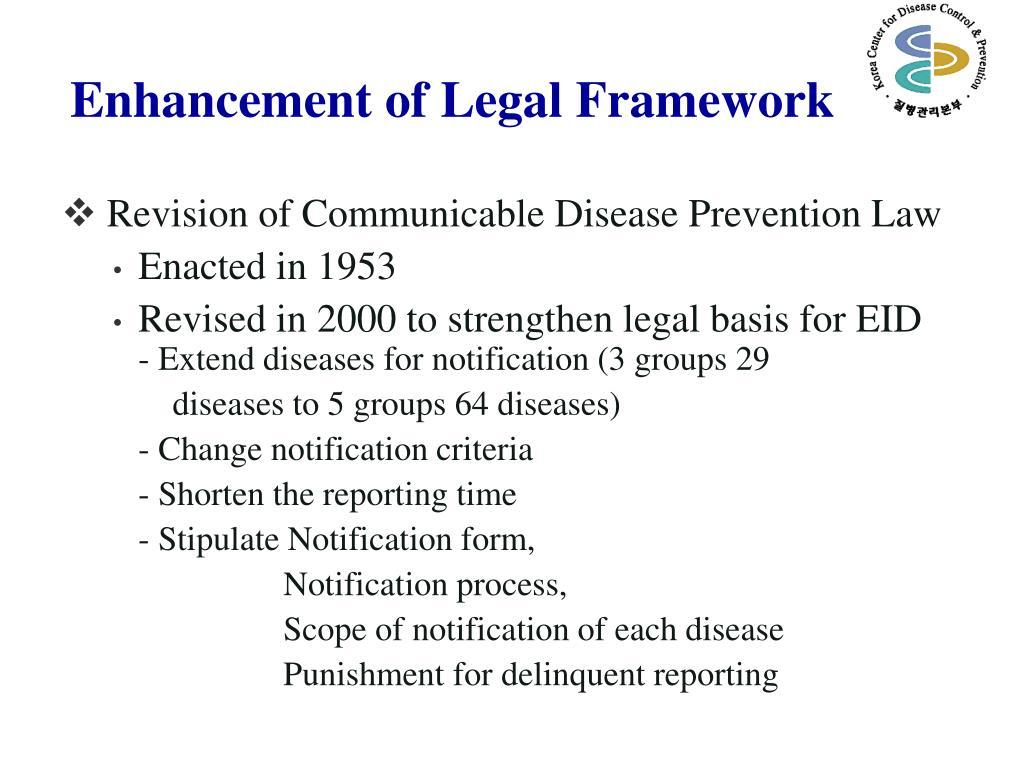 Enhancement of Legal Framework