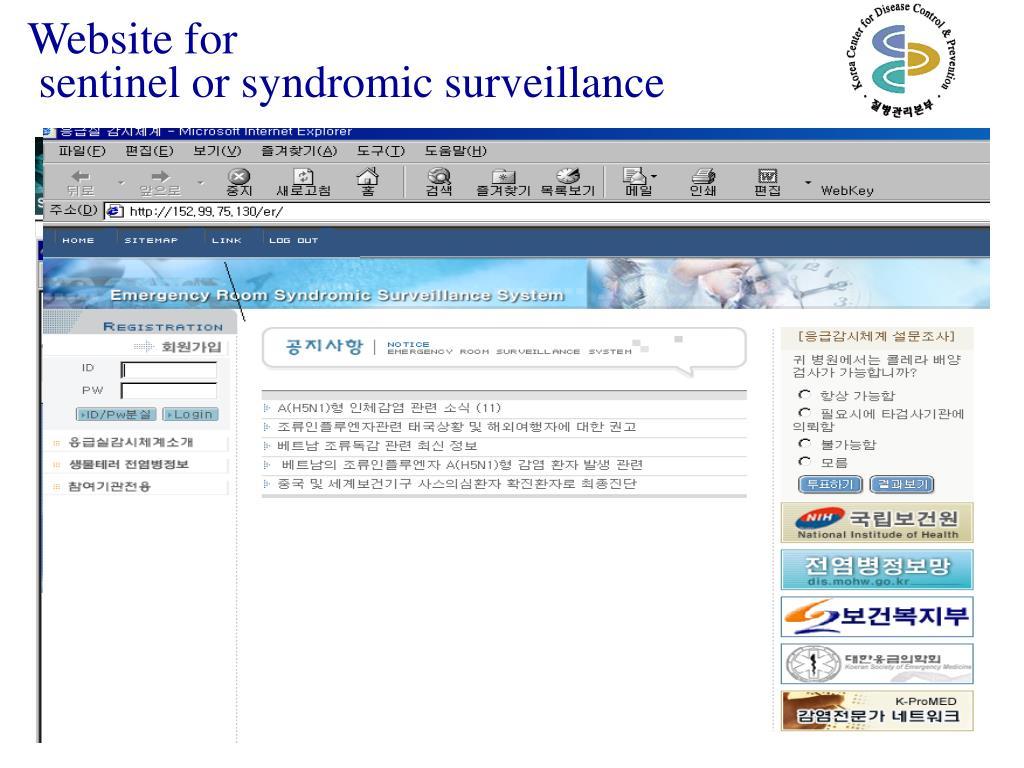 Website for