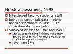needs assessment 1993