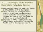 3 1 1 develop a more flexible extensible metadata carrier