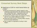 consortial survey next steps