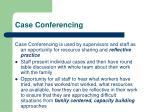 case conferencing