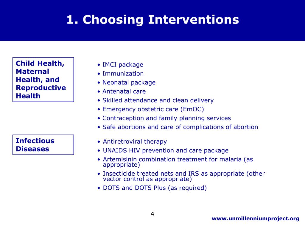 1. Choosing Interventions