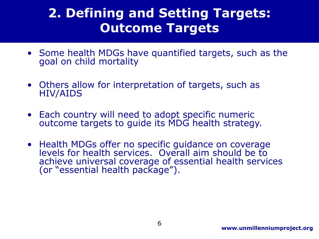 2. Defining and Setting Targets: