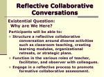 reflective collaborative conversations