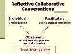 reflective collaborative conversations12