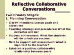 reflective collaborative conversations13