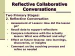 reflective collaborative conversations14