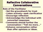 reflective collaborative conversations16
