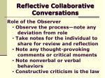 reflective collaborative conversations17