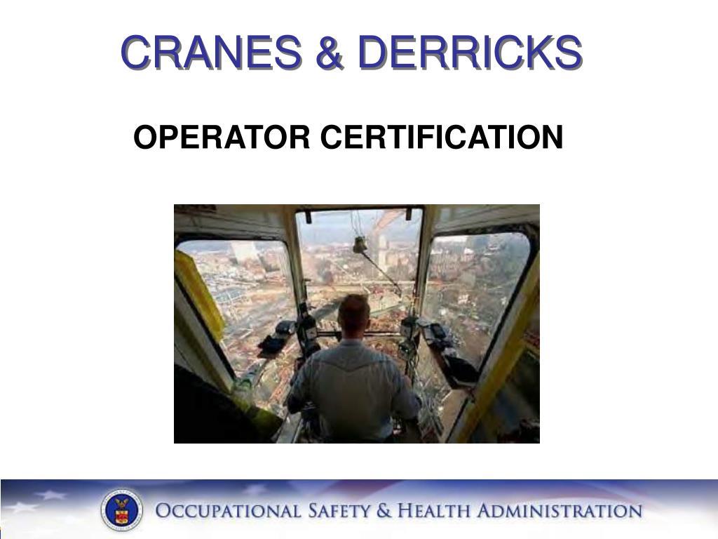 CRANES & DERRICKS