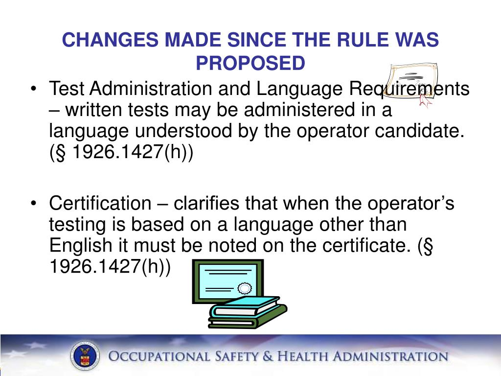 CHANGES MADE SINCE THE RULE WAS PROPOSED