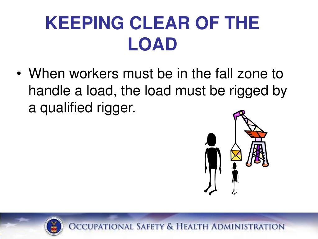 KEEPING CLEAR OF THE LOAD