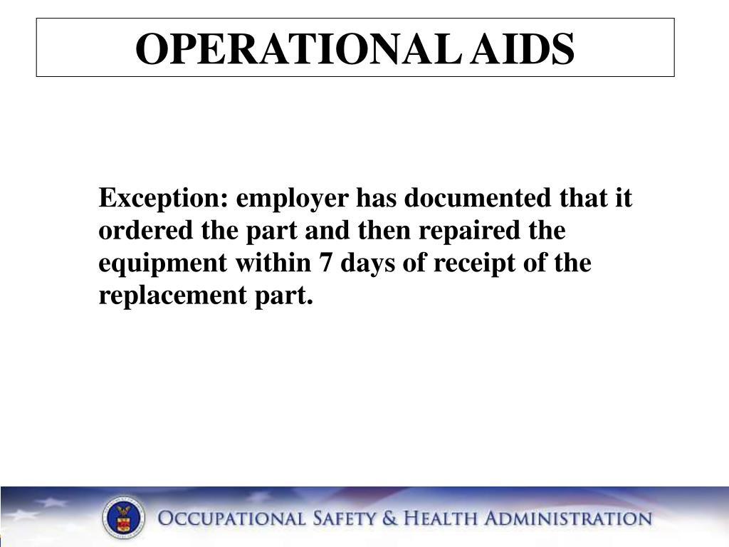 OPERATIONAL AIDS