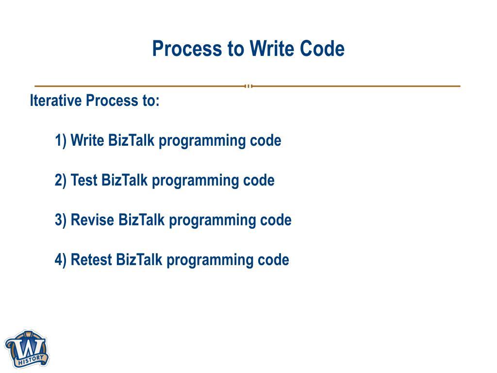 Process to Write Code