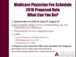 medicare physician fee schedule 2010 proposed rule what can you do