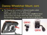 daessy wheelchair mount cont