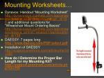 mounting worksheets