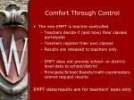 comfort through control